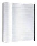 Cuaderno aislado en blanco Imágenes de archivo libres de regalías