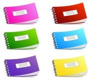 Cuaderno aislado en blanco Fotografía de archivo libre de regalías