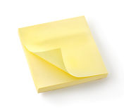 Cuaderno amarillo   Foto de archivo