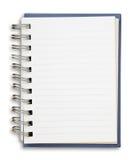 Cuaderno azul Fotos de archivo