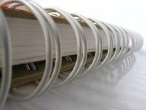 Cuaderno blanco Fotos de archivo libres de regalías