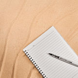 Cuaderno blanco. Foto de archivo libre de regalías