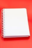 Cuaderno blanco imagen de archivo libre de regalías