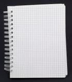Cuaderno blanco Fotos de archivo