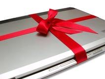 Cuaderno con el arqueamiento rojo Fotos de archivo libres de regalías