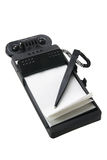 Cuaderno con el bolígrafo Imagenes de archivo