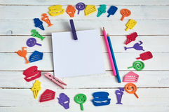Cuaderno con el lápiz Fotografía de archivo libre de regalías
