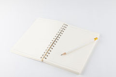 Cuaderno con el lápiz Imagen de archivo