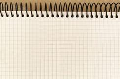 Cuaderno con espiral Fotos de archivo libres de regalías