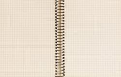 Cuaderno con espiral Imágenes de archivo libres de regalías
