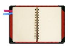 Cuaderno con la dirección de la Internet foto de archivo libre de regalías