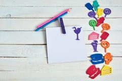 Cuaderno con la letra del color Fotos de archivo