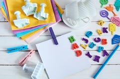 Cuaderno con la letra del color Imagen de archivo libre de regalías