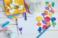 Cuaderno con la letra del color Imágenes de archivo libres de regalías