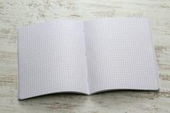Cuaderno con los cuadrados Fotografía de archivo