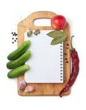 Cuaderno con recetas Fotos de archivo
