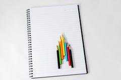 Cuaderno con un lápiz Imagen de archivo libre de regalías
