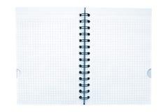 Cuaderno con wireo negro Foto de archivo