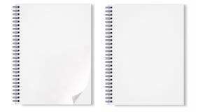 Cuaderno con wireo negro Imagenes de archivo
