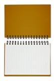 Cuaderno de Brown Imagen de archivo libre de regalías