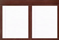 Cuaderno de cuero. Fotos de archivo