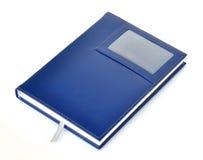 Cuaderno de cuero azul marino Imágenes de archivo libres de regalías