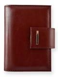 Cuaderno de cuero de Brown Imagen de archivo