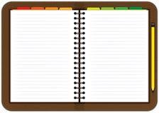 Cuaderno de cuero de la agenda Foto de archivo libre de regalías