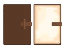 Cuaderno de cuero del vector Ilustración del Vector