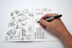 Cuaderno de dibujo Imagen de archivo libre de regalías
