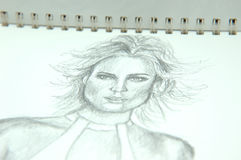 Cuaderno de dibujo Imagen de archivo