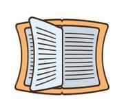 Cuaderno de dibujo leído aprendiendo la escuela stock de ilustración