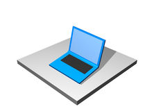 Cuaderno de la computadora portátil - diagrama industrial de la fabricación Foto de archivo libre de regalías