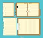 Cuaderno de la maqueta con el ejemplo elegante Imagenes de archivo