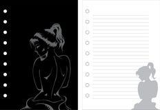 Cuaderno de la muchacha ilustración del vector