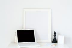 Cuaderno de la oficina de Esk con un marco Fotos de archivo libres de regalías