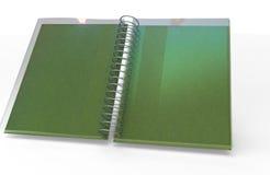 cuaderno de la página 3D Imagen de archivo libre de regalías