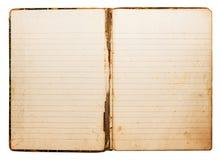 Cuaderno de la vendimia imagen de archivo libre de regalías