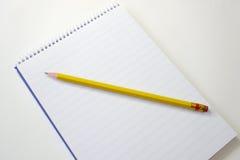 Cuaderno de notas en blanco Imagenes de archivo