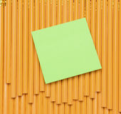 Cuaderno de notas en los lápices Fotografía de archivo