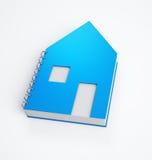 Cuaderno de notas formado casa Imagen de archivo