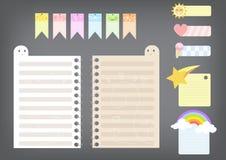 Cuaderno de notas lindo fotos de archivo