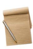 Cuaderno de notas reciclado Foto de archivo libre de regalías