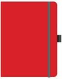 Cuaderno de notas rojo de la oficina Imagenes de archivo