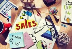 Cuaderno de notas y concepto de las ventas Imágenes de archivo libres de regalías