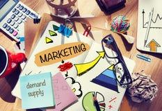 Cuaderno de notas y concepto del márketing Imágenes de archivo libres de regalías