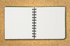 Cuaderno de papel Fotos de archivo libres de regalías