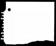 Cuaderno de papel Imagenes de archivo