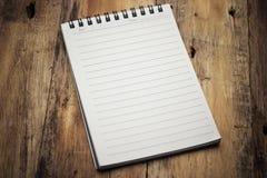Cuaderno de papel de la página fotos de archivo libres de regalías
