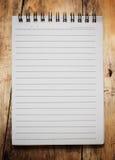 Cuaderno de papel de la página imagenes de archivo
